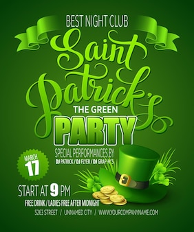 St. patricks day poster.  illustration