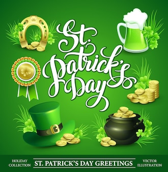 St. patricks day set of  illustrations