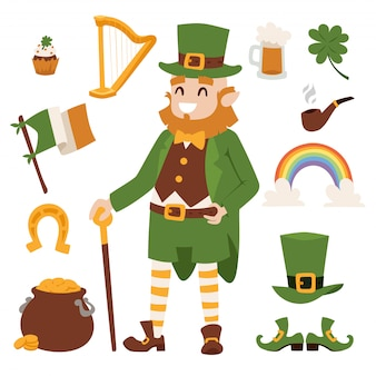 St. patricks day vector elements