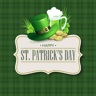 St. patricks day vintage holiday badge design.  illustration