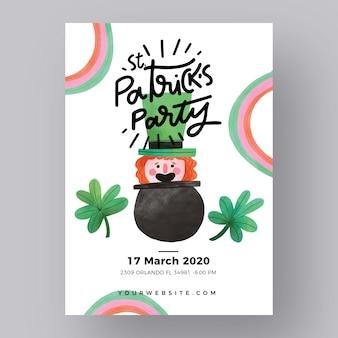 St. patricks flyer template theme