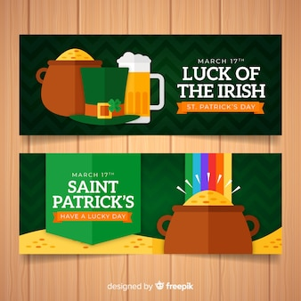 St patricks's day banners