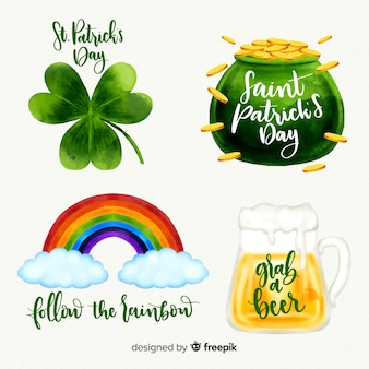 St patricks's day element collection
