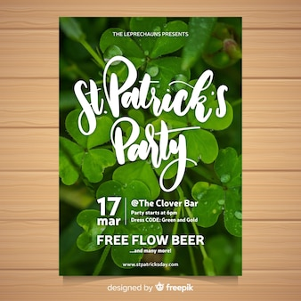 St patricks's day party flyer