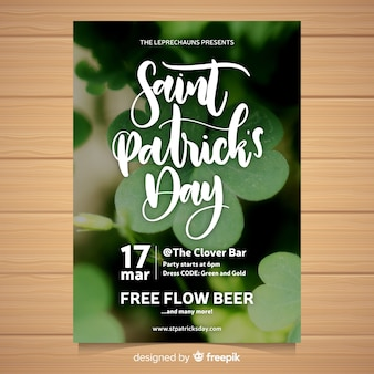 St patricks's day party flyer