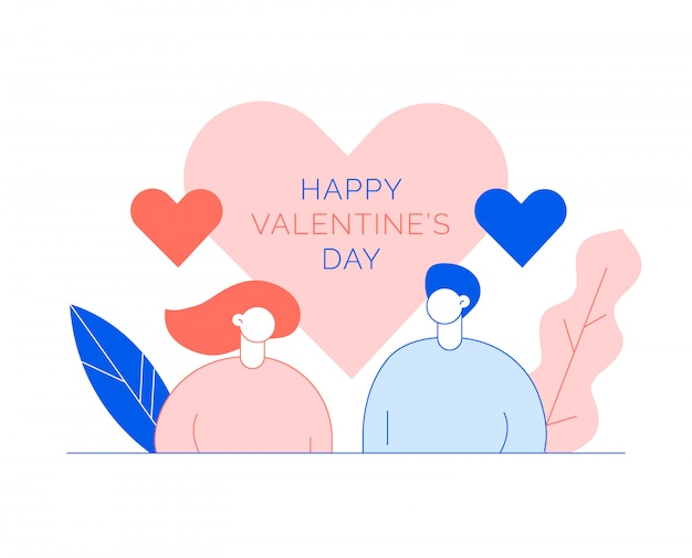 St. valentine's day concept with people