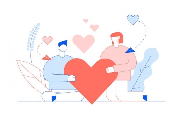 사람들과 성 발렌타인의 날 개념