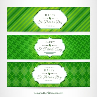 抽象的な緑st。パトリックの日バナー