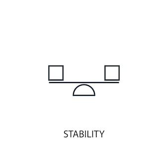 安定性の概念線アイコン。シンプルな要素のイラスト。安定性の概念の概要シンボルデザイン。 webおよびモバイルui / uxに使用できます