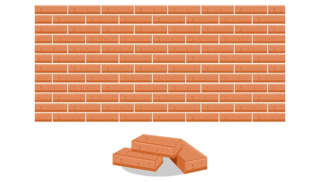 Stack of bricks vector illustration