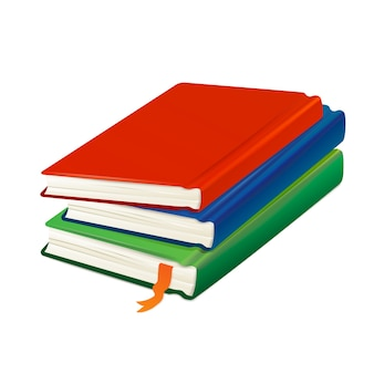 Stack of colored books