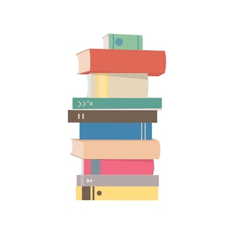 Stack of books graphic illustration