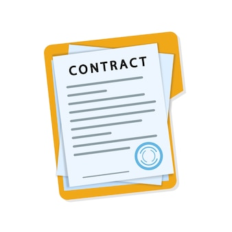 Стопка документов с подписью и печатью.