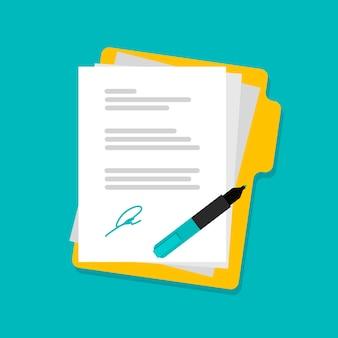 Стек бумажных документов с папкой