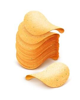 감자 칩 그림의 스택