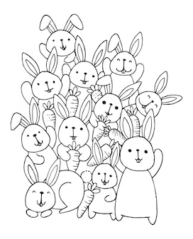 ウサギ落書きのスタック