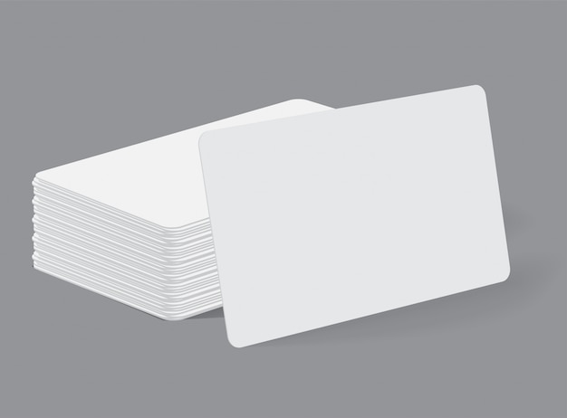 Stack of realistic blank business card