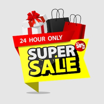 Stack of shopping black friday sale with shopping and bags