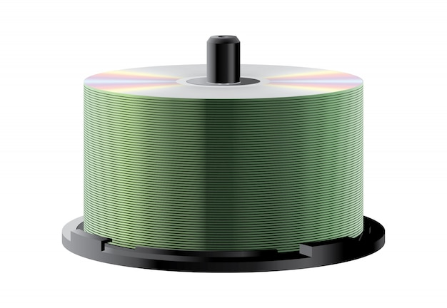 Stack with lots of cds on spindle