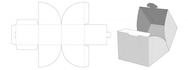 Stackable box packaging die cut template design