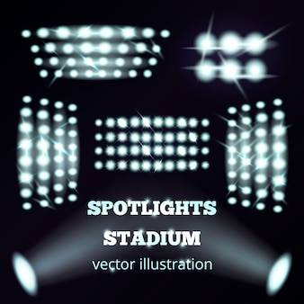 Stadium floodlights realistic set