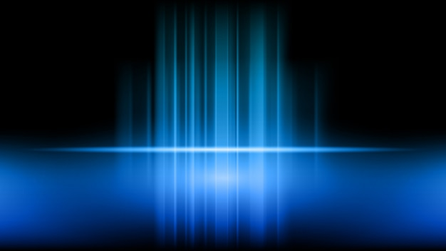 파란색 배경에 제품의 무대 및 프리젠 테이션