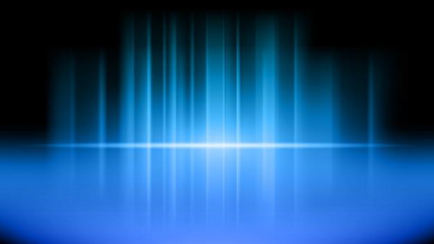 파란색 제품의 무대 및 프리젠 테이션