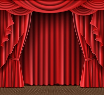 Stage curtain realistic