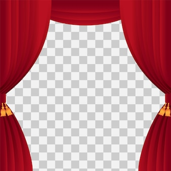 Stage curtain for template show time with classic red curtain