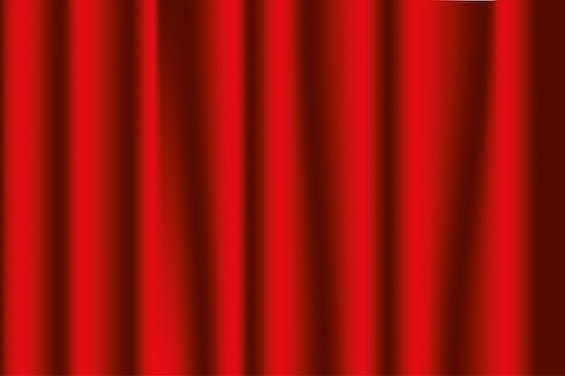 Сценические шторы красные. фон оперы или театра. векторная иллюстрация.