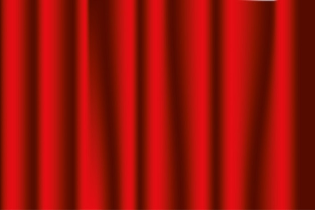 Stage curtains red. opera or theater background. vector illustration.