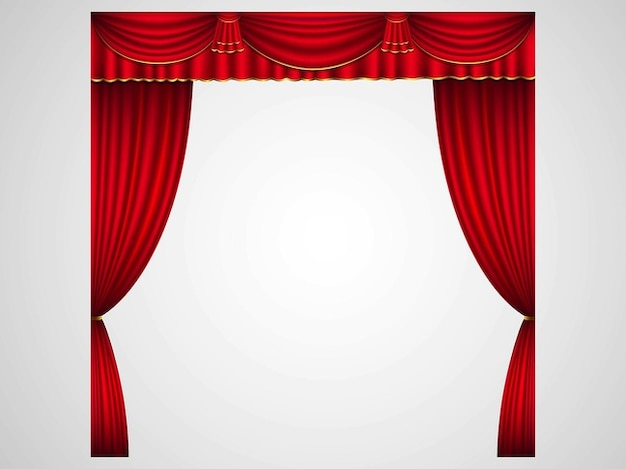 Stage curtains in red