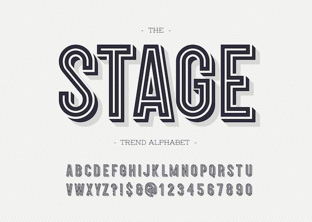 무대 글꼴 현대 타이포그래피 산세 리프 3d 굵은 스타일 책