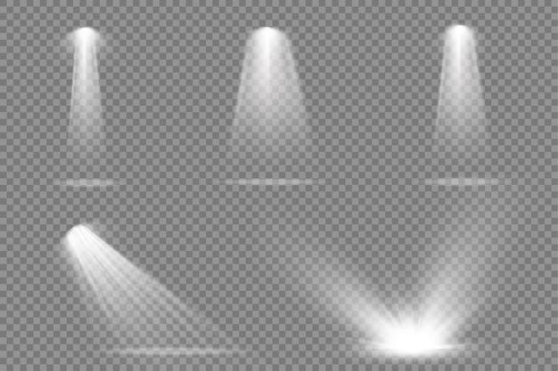 舞台照明スポットライトシーンプロジェクターライトはスポットライトで明るい白色照明に影響を与えます