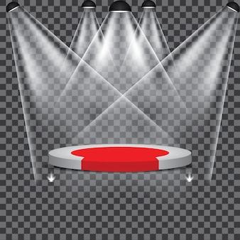 Stage podium illuminated scene spotlight party