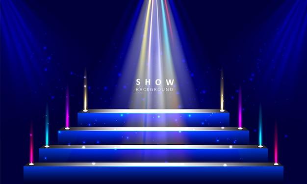 Сценический подиум с фоном светового эффекта