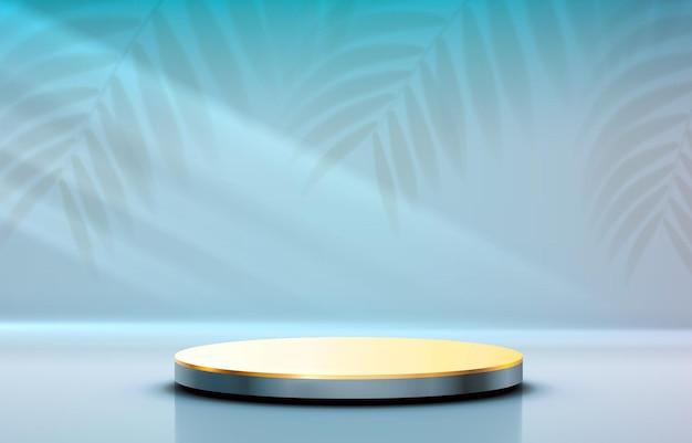 ステージ表彰台と照明ステージ表彰台シーンと賞の装飾要素の背景