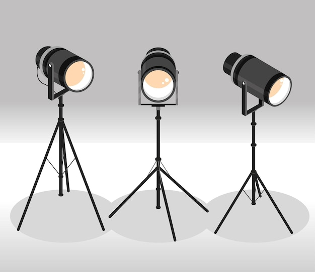 Сценические прожекторы на штативе