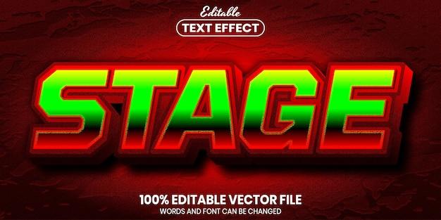 ステージテキスト、フォントスタイルの編集可能なテキスト効果