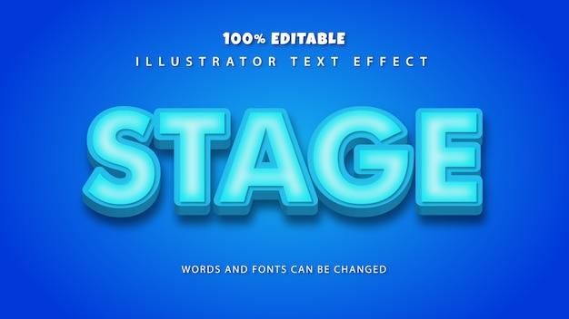 스테이지 텍스트 스타일 효과, 편집 가능한 텍스트