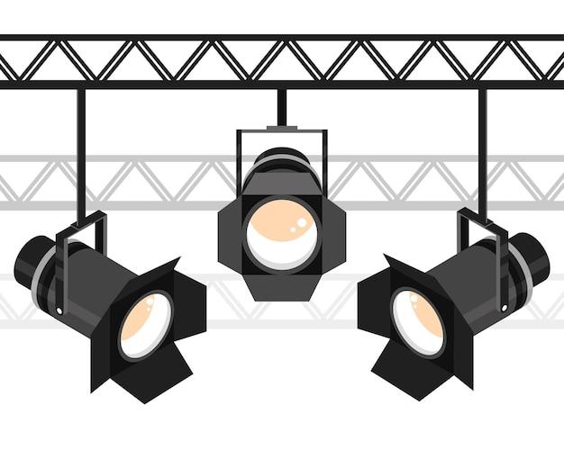 Сцена с подвесными прожекторами