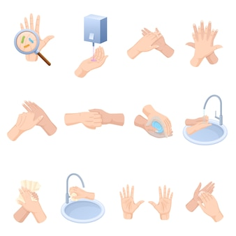 Stages proper care of hands, washing, preventive maintenance of bacteria