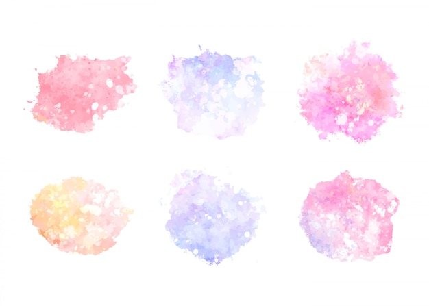 Stain watercolor collection