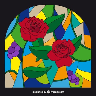 Stained glass in colorful style