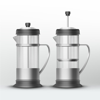 Stainless steel machines for tea and coffee
