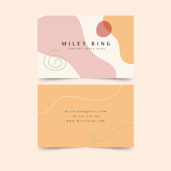 Stains coloured business card template