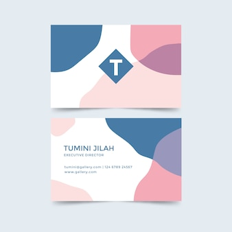 Stains concept for business card template