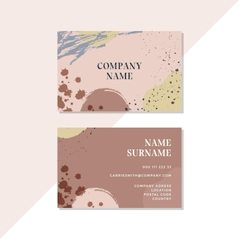 Stains of hand painted business cards