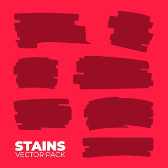 Stains vector pack