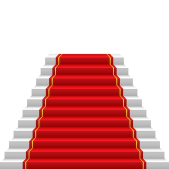 Staircase with red carpet red carpet way to success stairs up